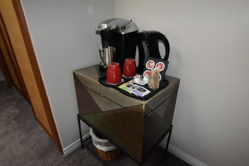 Coffee station in each room